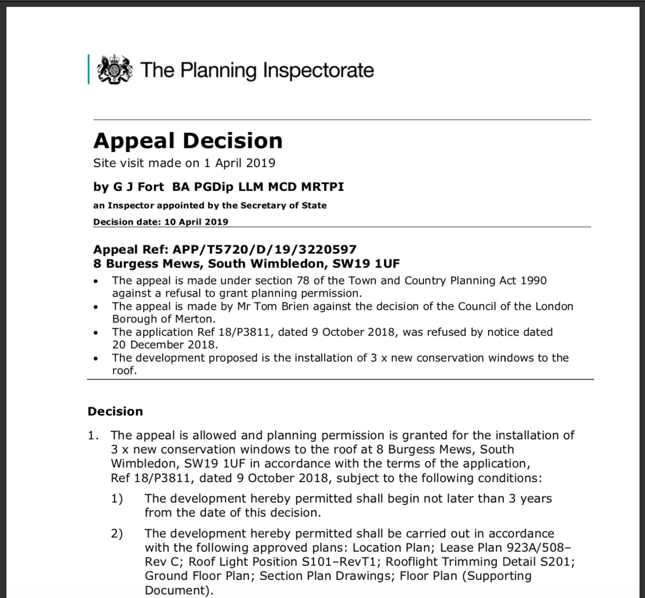 Appeal Against A Refusal Of Planning Permission For New
